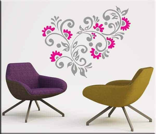 adesivi da parete fiori arredi floreali