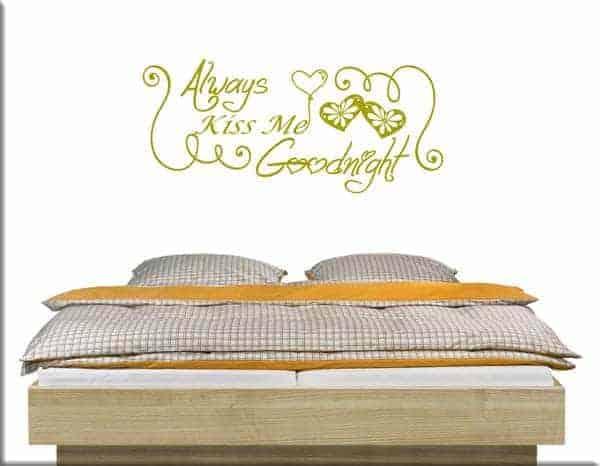 adesivi da parete goodnight camera da letto