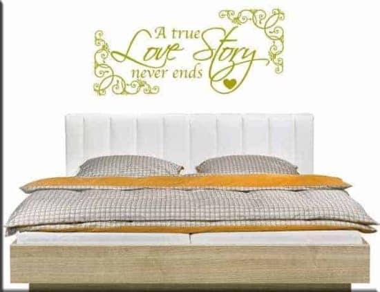 adesivi da parete true love