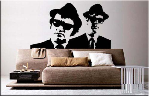 adesivi murali blues brothers