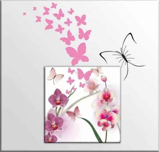 adesivi murali farfalle quadro moderno