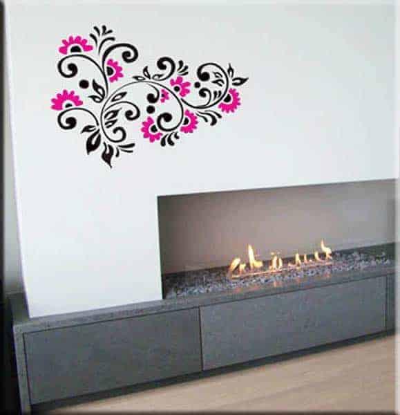 adesivi murali fiori arredi floreali