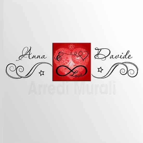 adesivi murali personalizzati con quadro love 2 decorazioni murali che insieme si completano