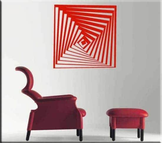 adesivo da parete arte moderna