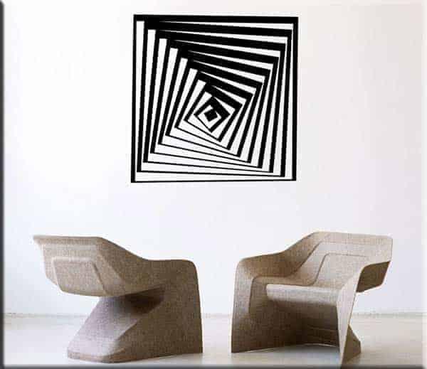adesivo murale arte moderna