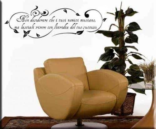 decorazione adesiva floreale frase