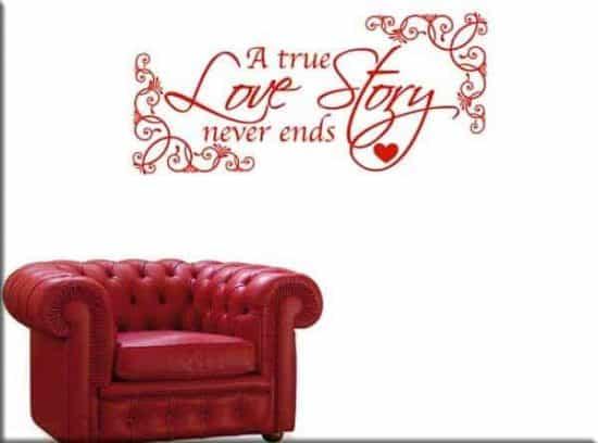 decorazione adesiva true love