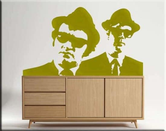 decorazioni adesive blues brothers