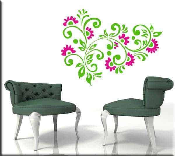 decorazioni adesive fiori arredi floreali