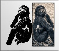 decorazioni murali quadro gorilla sticker