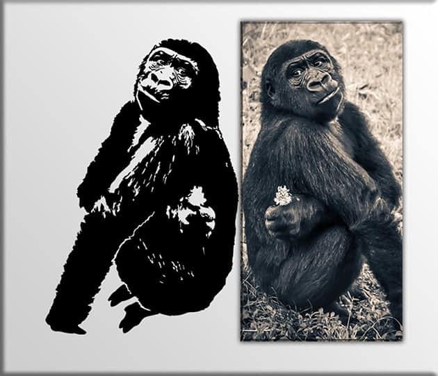 decorazioni murali quadro gorilla sticker