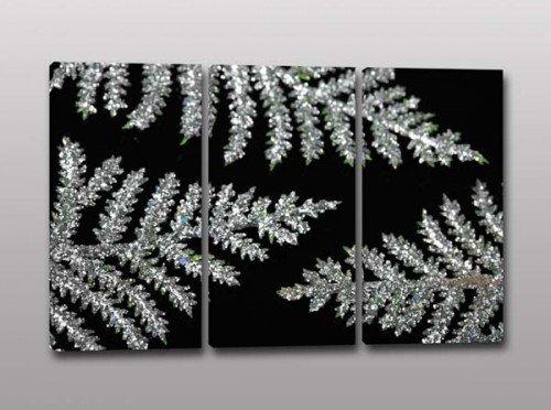 quadri moderni foglie argento