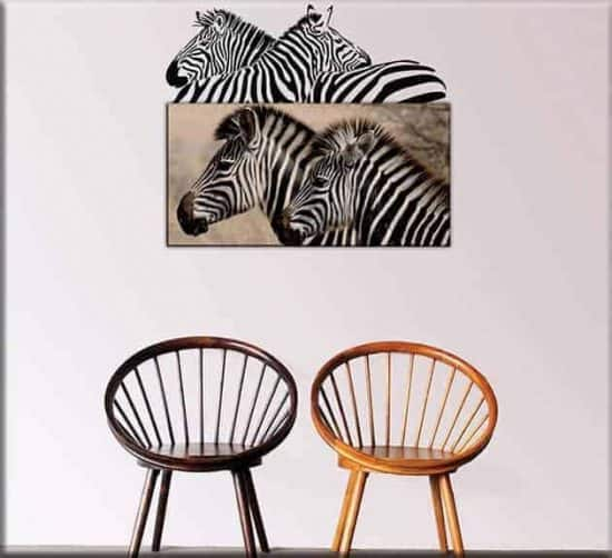 quadro e wall stickers zebre
