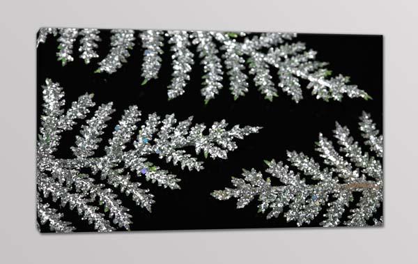 quadro moderno foglie argento