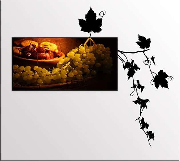 quadro uva adesivi murali