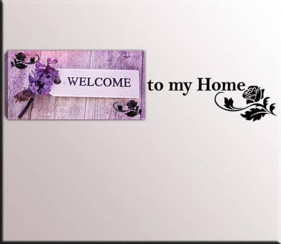 quadro welcome adesivi murali home