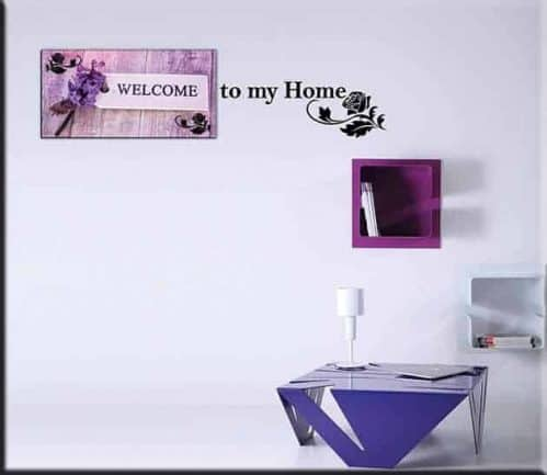 quadro welcome wall stickers home