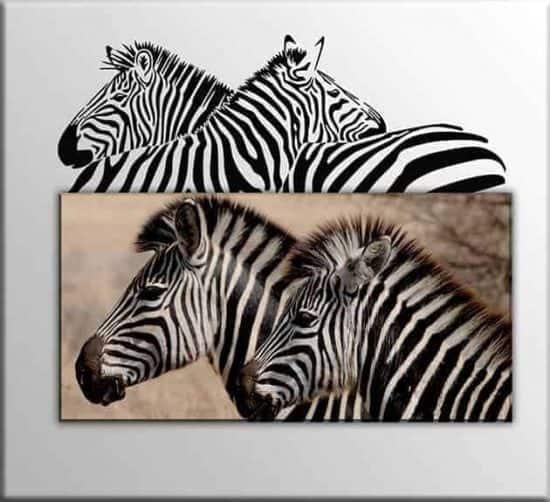 quadro zebre adesivi murali