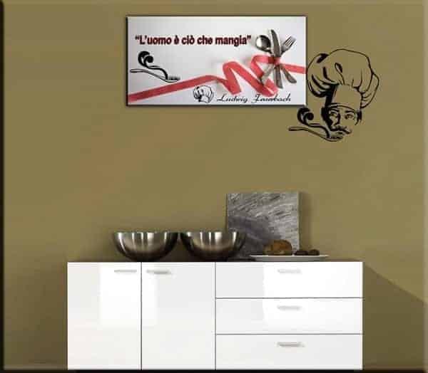 Adesivo murale cucina quadro moderno - Quadro cucina moderno ...