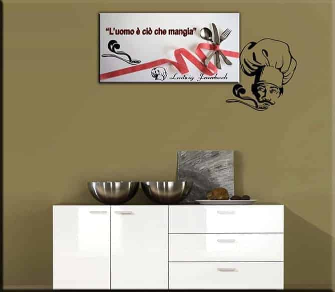 wall sticker cucina quadro moderno