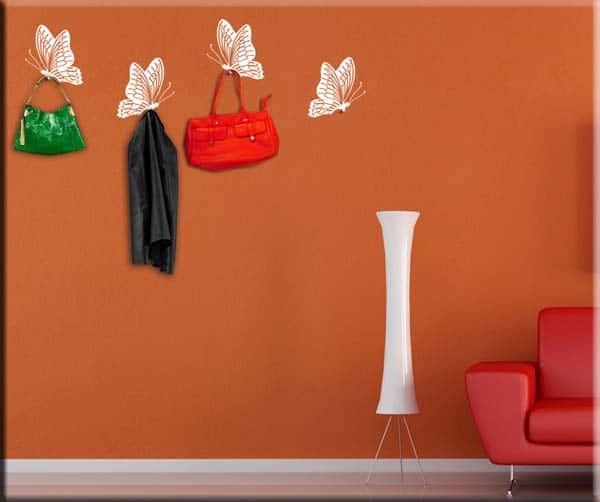 wall stickers appendiabiti 4 farfalle