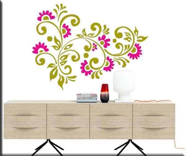 wall stickers fiori arredi floreali