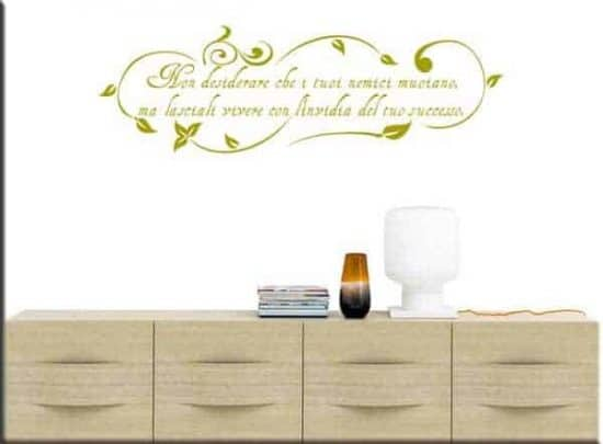 wall stickers floreali frase