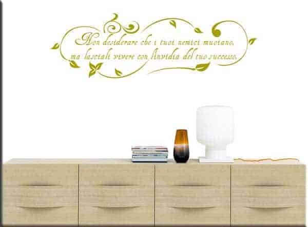 wall stickers floreali frase