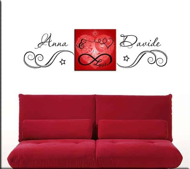 wall stickers personalizzati quadro love