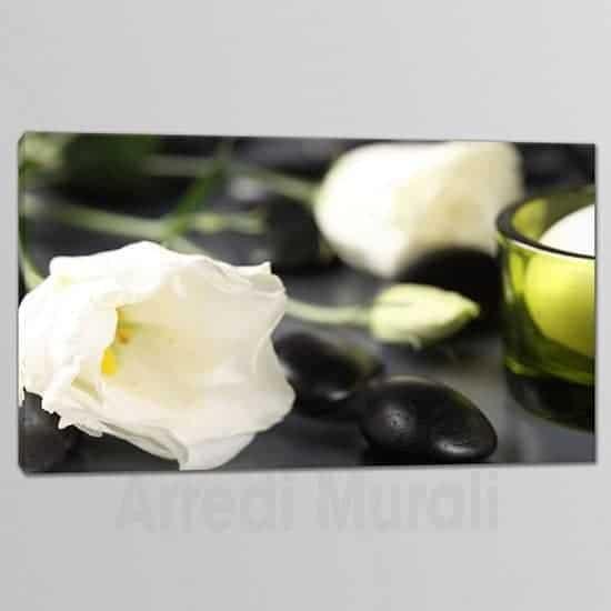 Quadri moderni fiori benessere tela unica