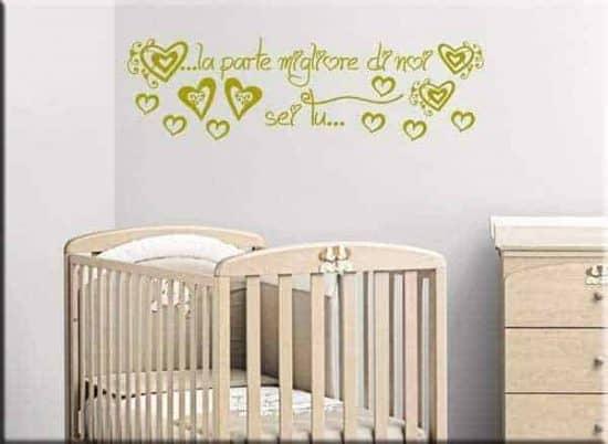 adesivi da parete frase love bebè