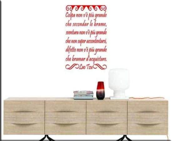 adesivi da parete frasi lao tzu