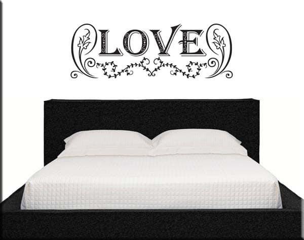 Adesivi da parete love letto - Decorazioni camera da letto ...