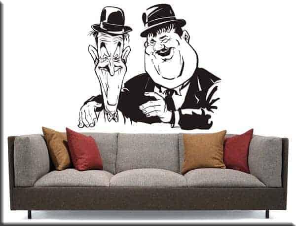 adesivi murali Stanlio Ollio