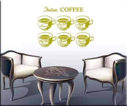 adesivi murali coffee bar caffè