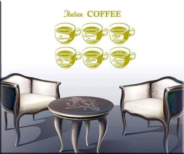adesivi murali coffee bar caff