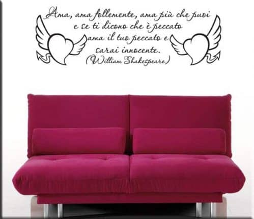 adesivi murali frase William Shakespeare
