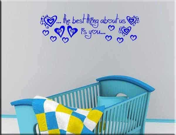 adesivi murali frase bebè love