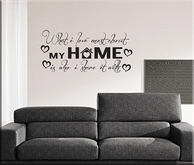 Adesivi Murali Frasi Home Casa