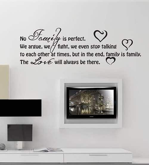 adesivi murali frasi love family
