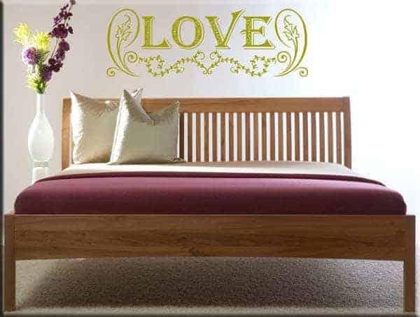 Adesivi murali love letto - Decorazioni camera da letto ...