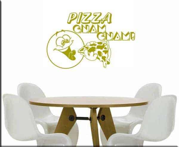 adesivi murali pizza gnam
