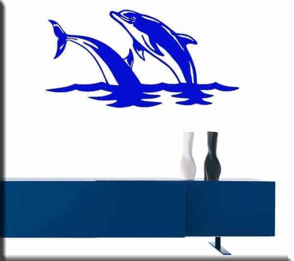 adesivi murali salto delfini mare