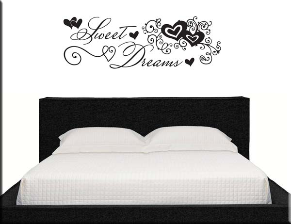 Adesivi murali goodnight love - Stickers testata letto ...