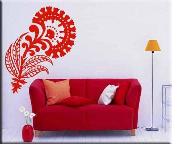 adesivo murale floreale casa