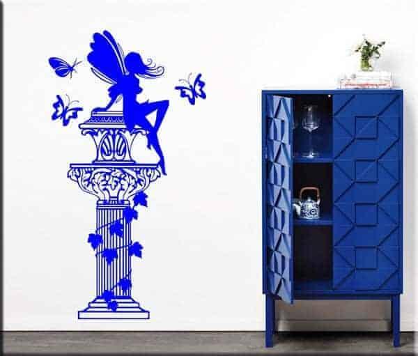 decorazioni adesive colonna fantasy farfalle