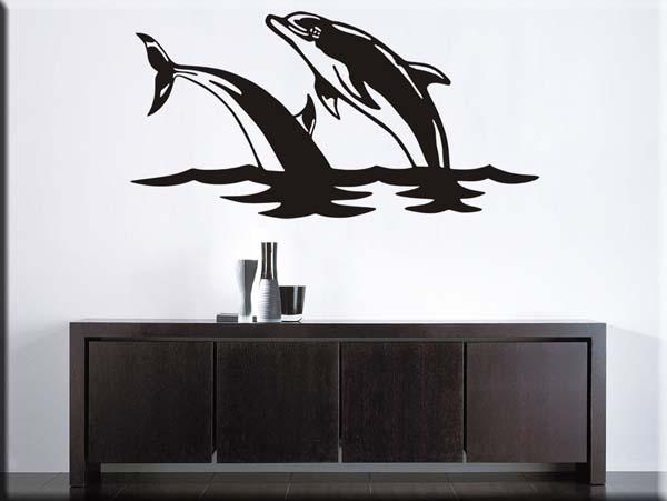 decorazioni adesive da parete salto delfini