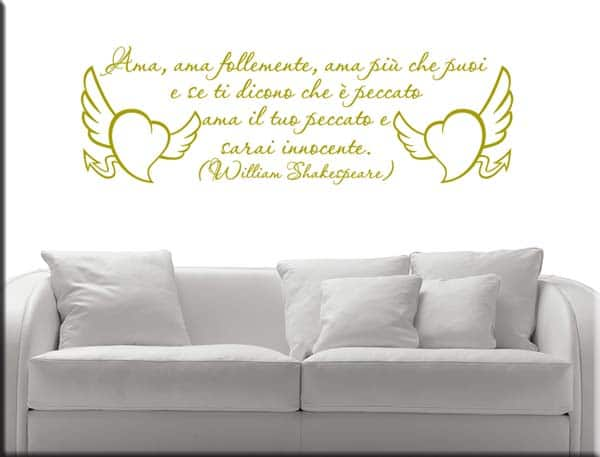 decorazioni adesive frase William Shakespeare