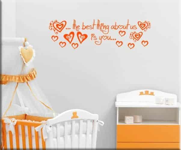 decorazioni adesive frase bebè love