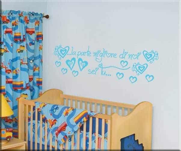 decorazioni adesive frase love bebè